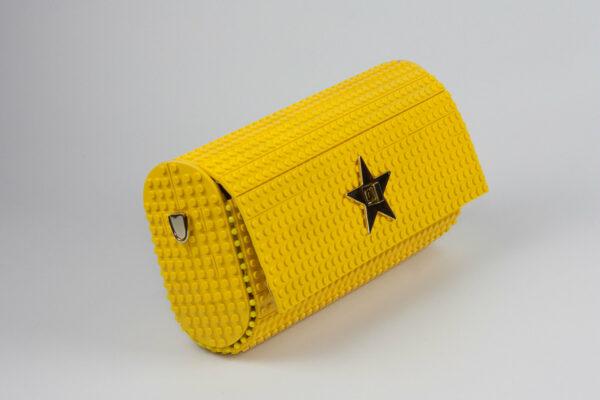 Bolso Lego Cross Over Baguette Amarillo