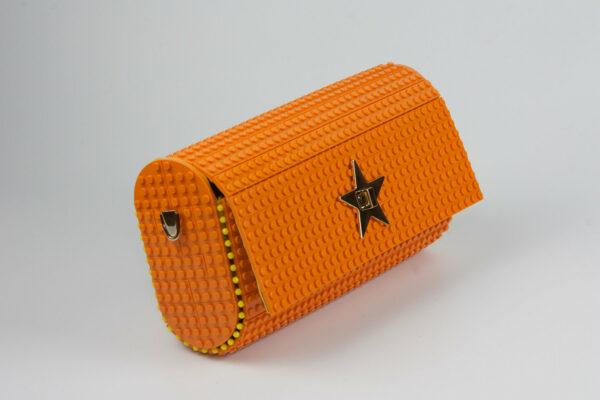 Bolso Lego Cross Over Baguette Naranja