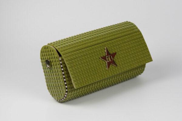Bolso Lego Cross Over Baguette Verde Militar