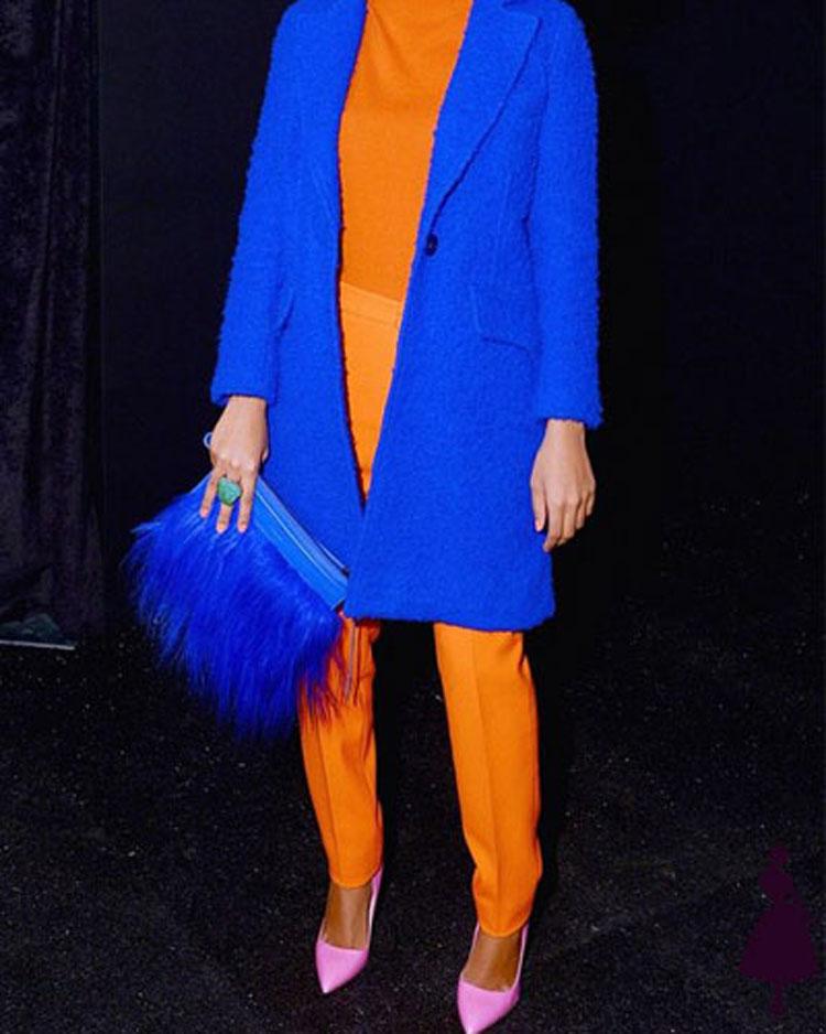Color Block Naranja Azul