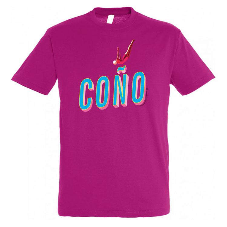 Con0 Camiseta Hombre Rosa Oscuro