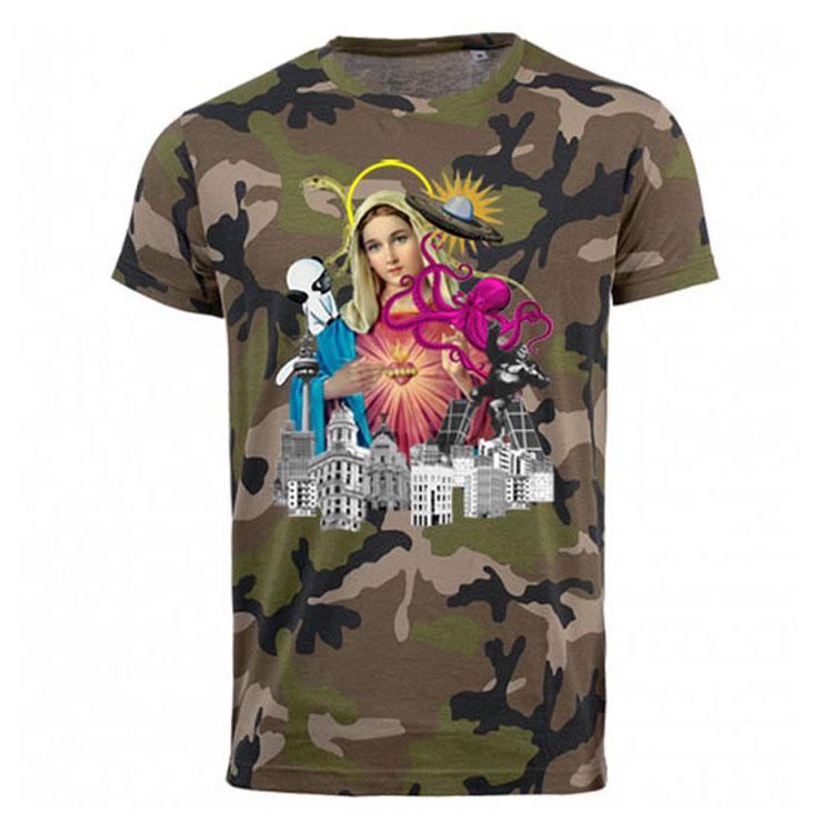 Camiseta Virgen Camuflaje Manga Corta Blog